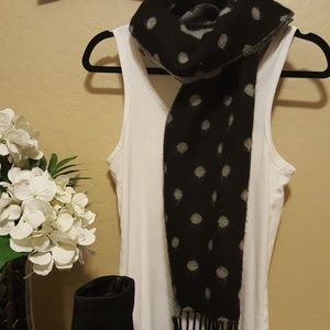 Accessories - Two-Toned Poka Dot Scarf